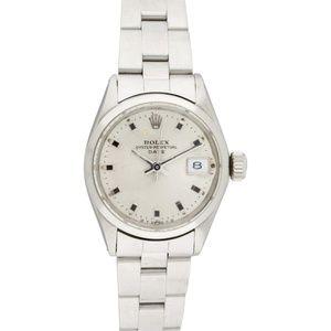 Rolex Date Watch w/ date complication, smooth beze